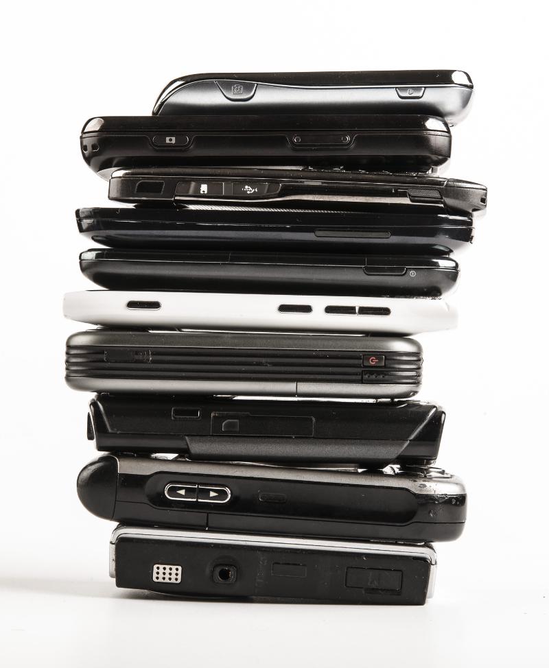 Smartphone gestappelt